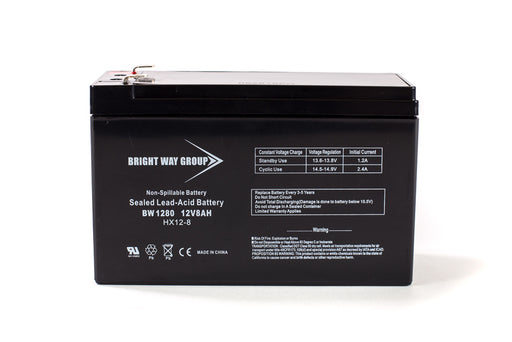 bright way group bw 1280 f1 12v 8ah sla battery