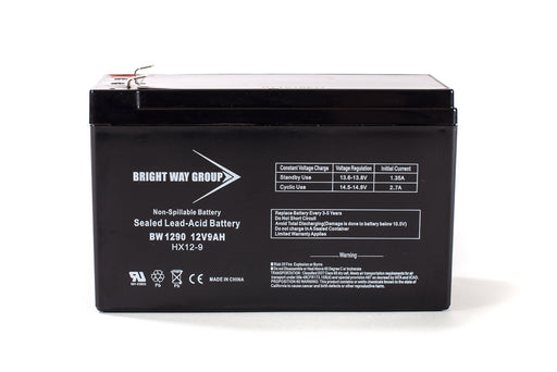 Bright Way Group BW 1290 F2  - 12 Volt  9Amp SLA Battery