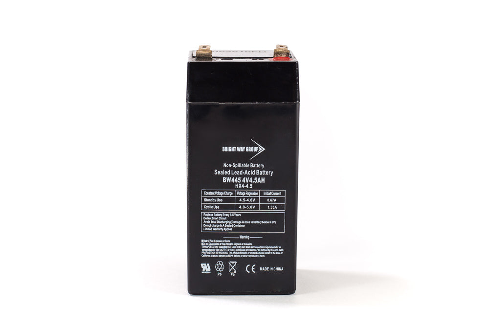 bright way group bw 445 4v 4 5ah sla battery
