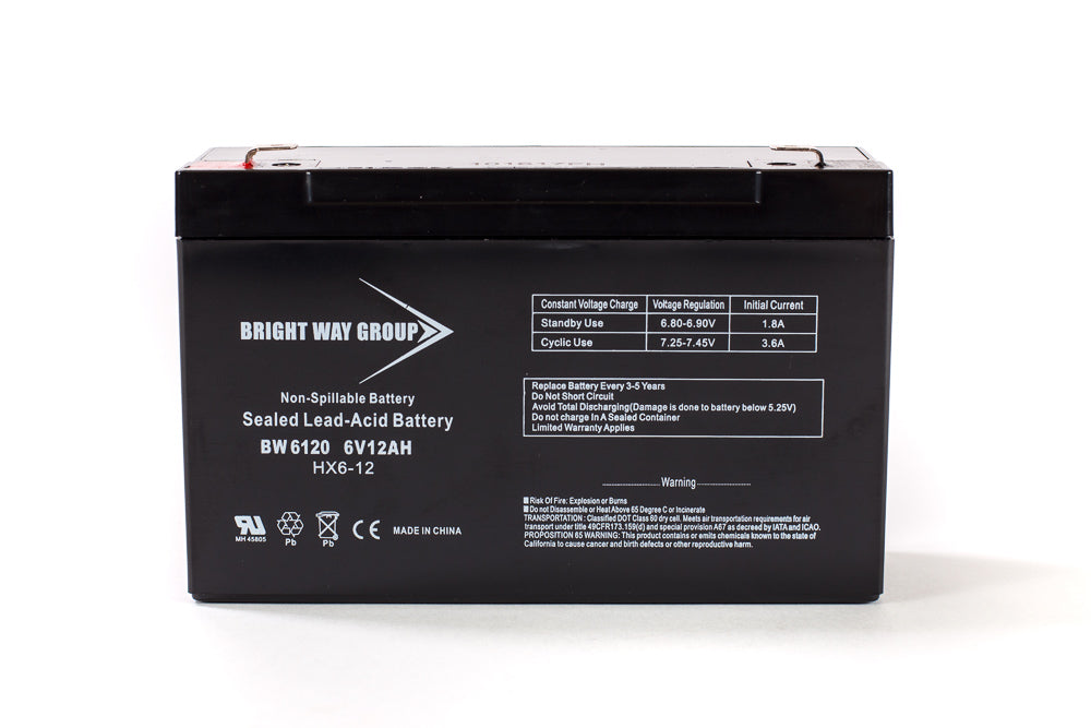 Bright Way Group BW 6120 F2 - 6V 12AH SLA Battery