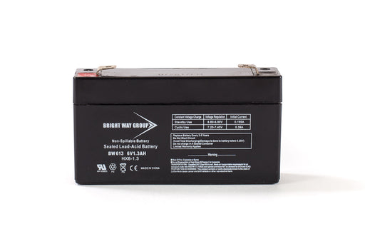 bright way group bw 613 6v 1 3ah sla battery