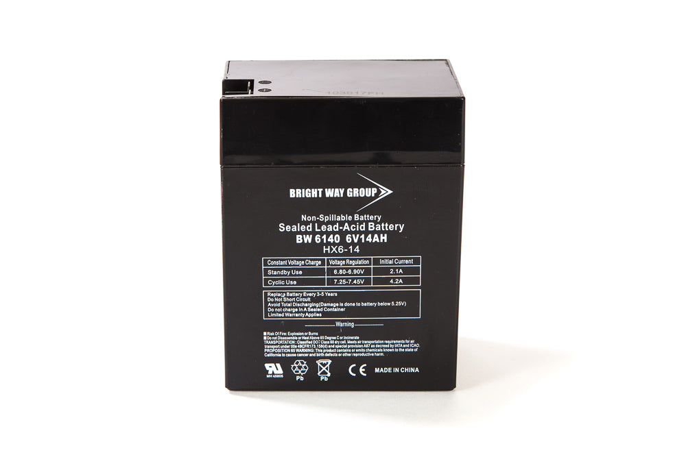 bright way group bw6140 6v 14ah sla battery