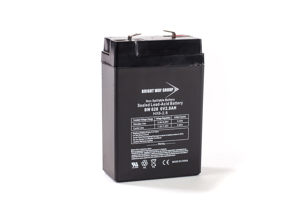 bright way group bw 628 6v 2 8ah sla battery