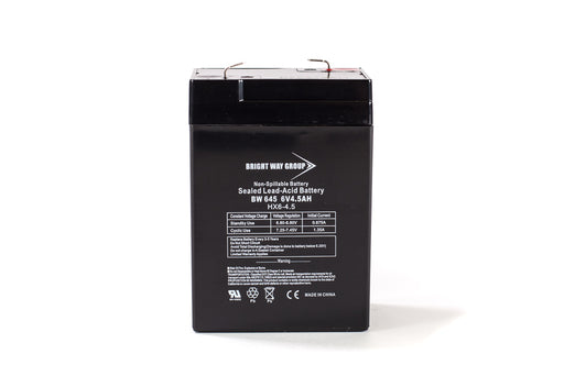 bright way group bw 645 6v 4 5ah sla battery