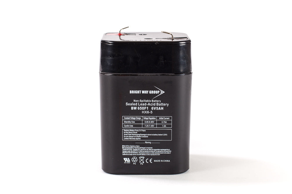 bright way group bw 650f lantern 6v 5ah sla battery