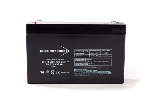 bright way group bw 670 6v 7ah sla battery