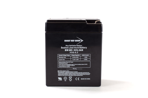 bright way group bw 685 6v 8 5ah sla battery