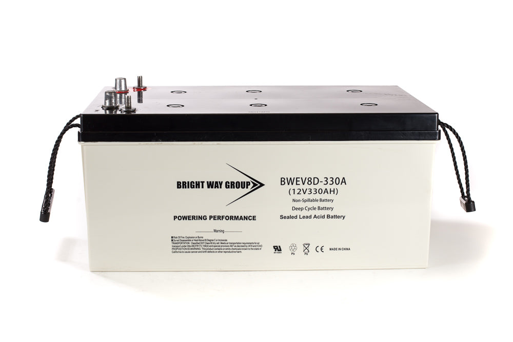 bright way group bw ev8d 12v 330ah sla battery