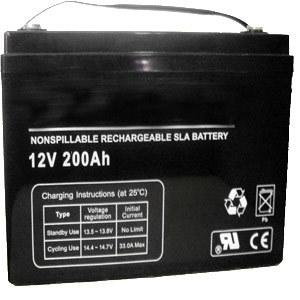 Universal UB 4D-AGM -  REPLACEMENT BW 4D -12V 200AH Sealed AGM Battery