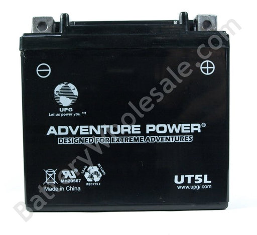 adventure power ut5l 12v 55cca sealed agm