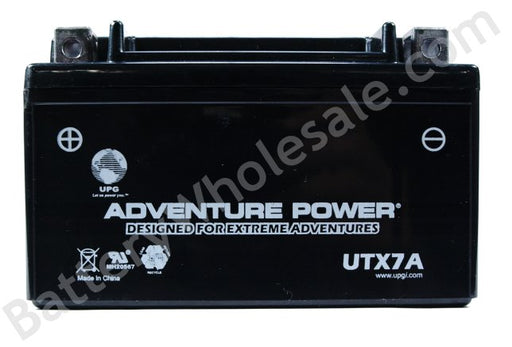 adventure power utx7a 12v 85cca sealed agm