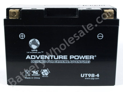 adventure power utx9b 4 12v 115cca sealed agm
