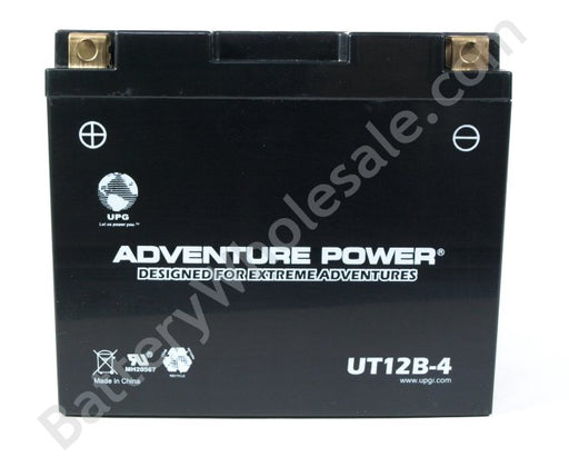 adventure power ut12b 4 12v 130cca sealed agm
