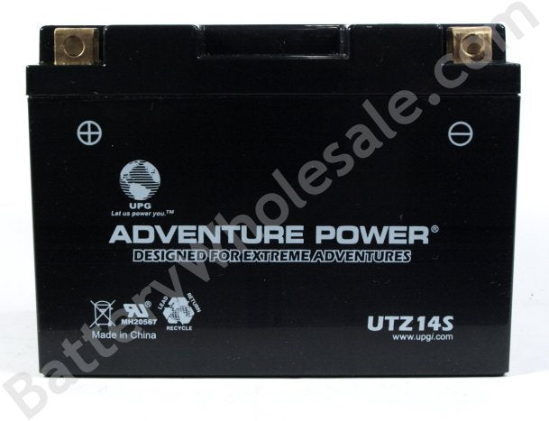 adventure power utz14s 12v 175cca sealed agm