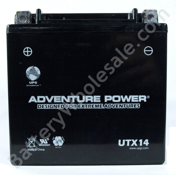 adventure power utx14 12v 160cca sealed agm