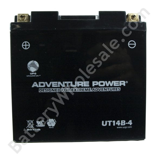 adventure power ut14b 4 12v 145cca sealed agm