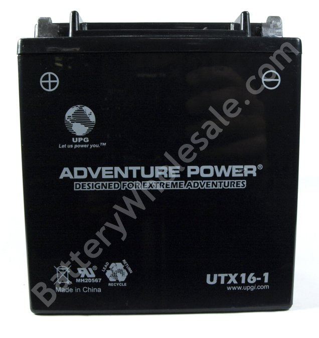 adventure power utx16 1 12v 200cca sealed agm