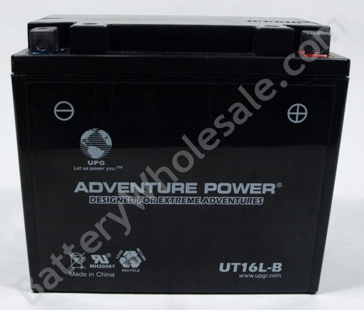 adventure power ut16l b 12v 240cca sealed agm