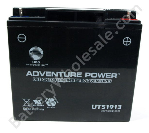 adventure power ut51913 12v 170cca sealed agm