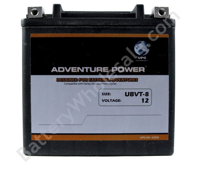 adventure power ubvt 8 12v 200cca sealed agm