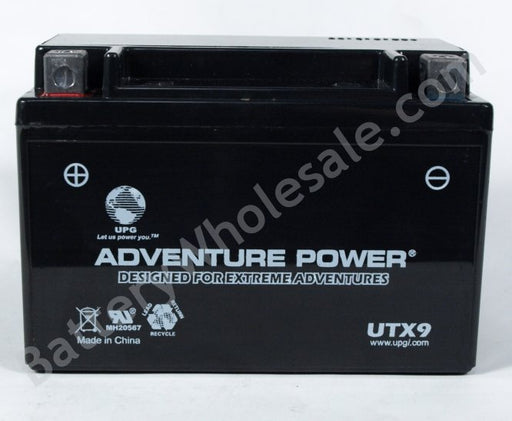 adventure power utx9 12v 120cca sealed agm
