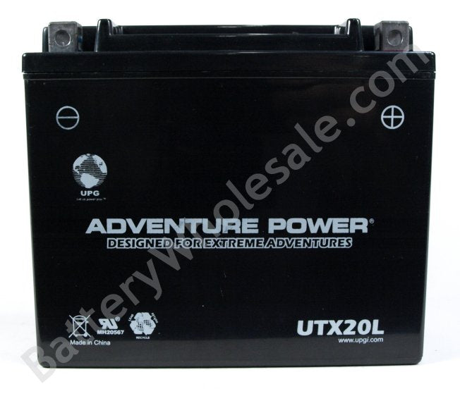 adventure power utx20l 12v 250cca sealed agm