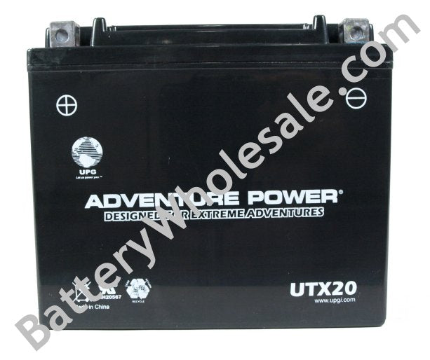 adventure power utx20 12v 250cca sealed agm