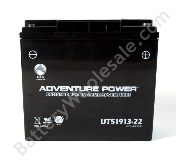 adventure power ut51913 22 12v 390cca sealed agm