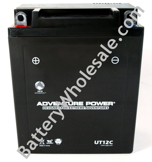 adventure power ut12c 12v 140cca sealed agm