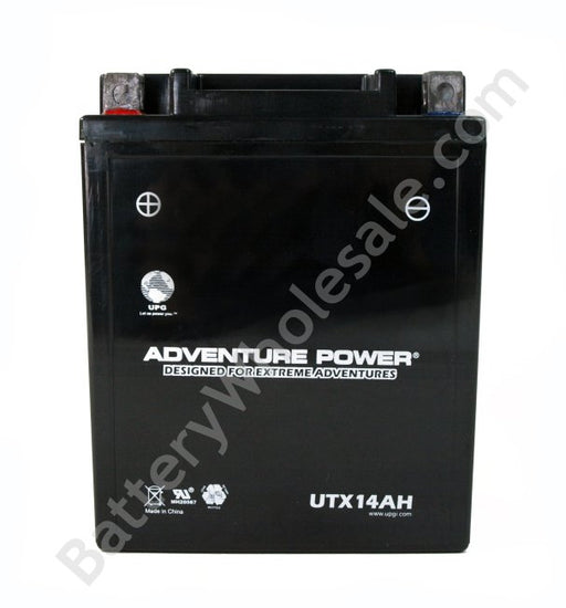 adventure power utx14ah 12v 190cca sealed agm