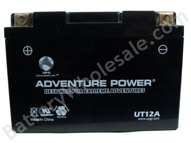 adventure power ut12a 12v 140cca sealed agm