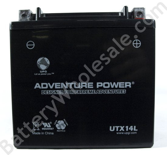 adventure power utx14l 12v 160cca sealed agm