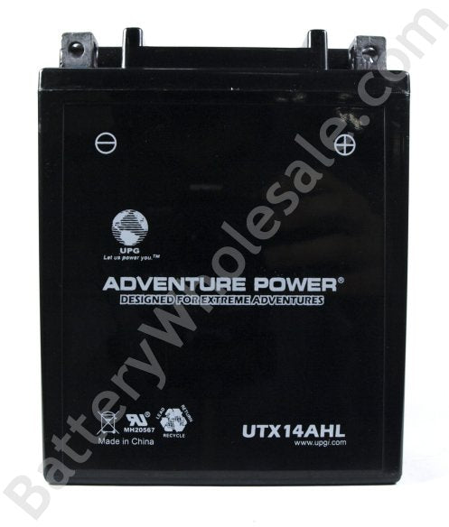 adventure power utx14ahl 12v 190cca sealed agm