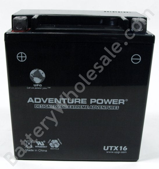 adventure power utx16 12v 200cca sealed agm