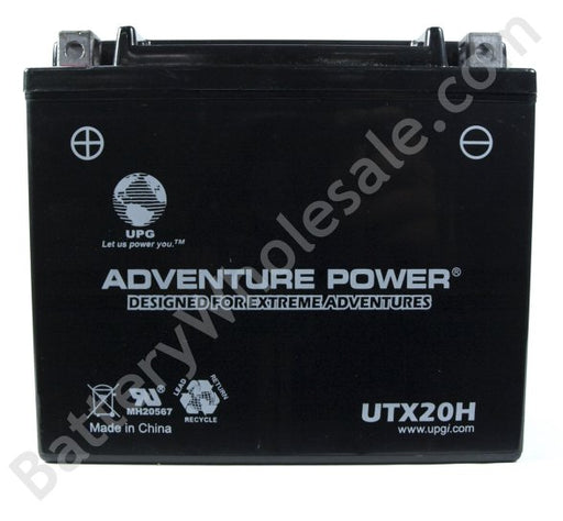 adventure power utx20h 12v 270cca sealed agm