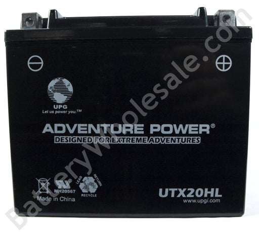 adventure power utx20hl 12v 270cca sealed agm