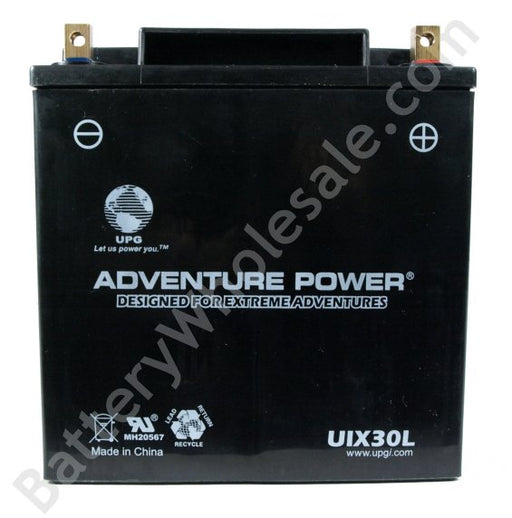 adventure power uix30l 12v 385cca sealed agm