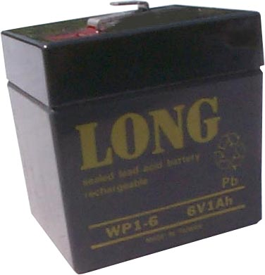 long wp1 6 6v 1ah sla battery