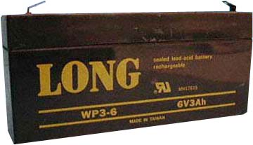 long wp3 6 6v 3ah sla battery