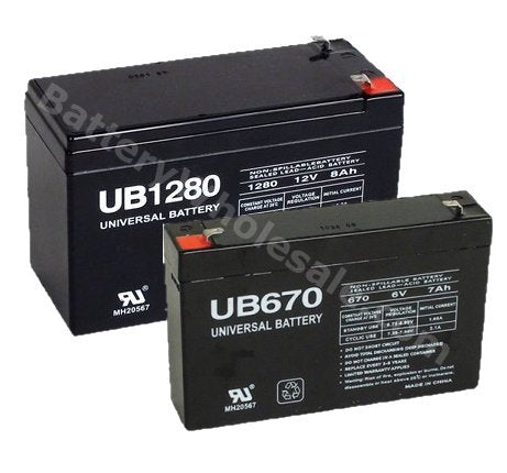 apc bc 500 pack is for one ups 1 12v 8ahf2 battery and 1 6v 7ah battery