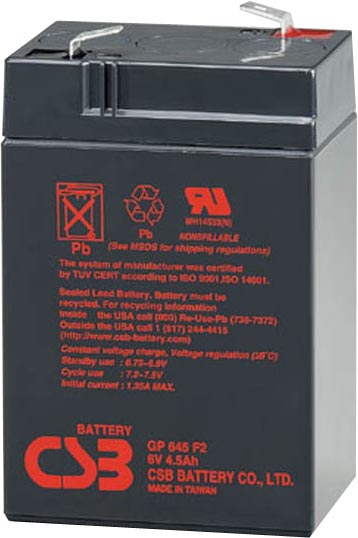 csb gp645 6v 4 5ah sla battery