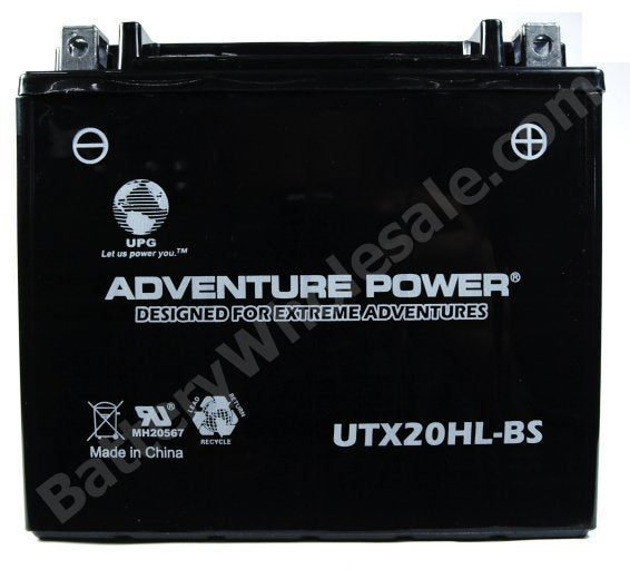 adventure power utx20hl bs 12v 18ah dry charge agm