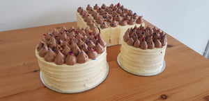 Keto Special Occasion Cakes - VANILLA ALMOND-Creme Covered- [Call (03) 9853 5771 to Order Cake-PICK UP ONLY]