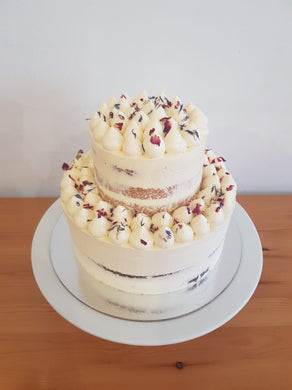 Keto Special Occasion Cakes - VANILLA ALMOND -Naked- Phone orders only 0492 958 575