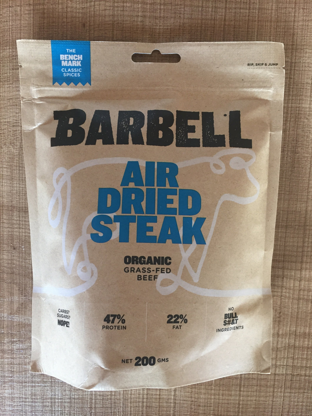 Barbell Biltong Air Dried Steak 200g- Benchmark Classic Spices