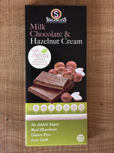 Load image into Gallery viewer, Sugarless Confectionary - Milk Chocolate & Hazelnut Cream (with stevia)