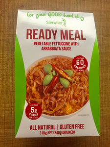 Slendier Ready Meal- Vegetable Fettuccine with Arrabbiata Sauce (Spicy)