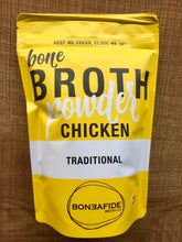 Load image into Gallery viewer, Boneafide Bone Broth Powder- Traditional Organic Chicken