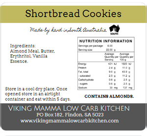 Viking Mama Cookies - Almond Short Bread