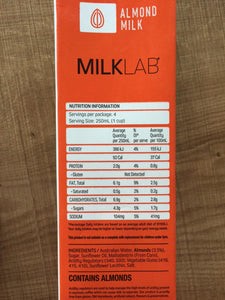 Milk Lab - Almond- 1L $5.2